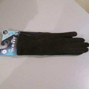 Isotoner Black Fleece Gloves Smart Dri Touch NWT